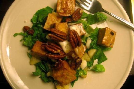 Caramelized Tofu & Gala Apple Salad