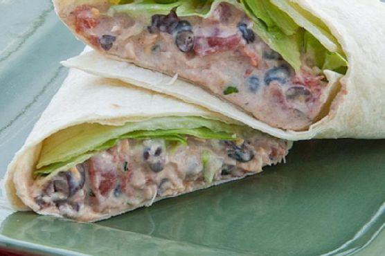 Chicken Enchilada Salad Wraps