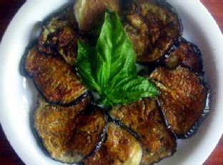 "Easy and Addictive Eggplant ""Chips Image"