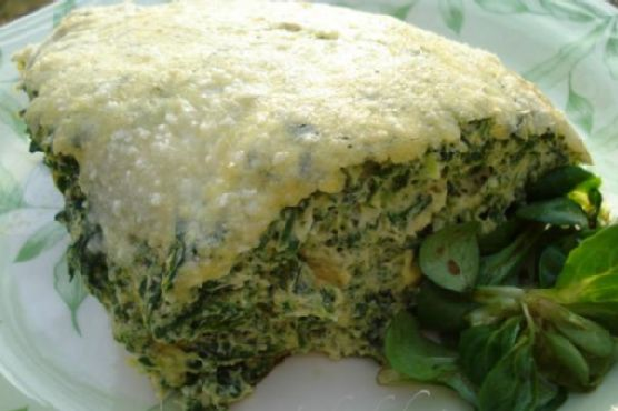 Fluffy frittata with spinach