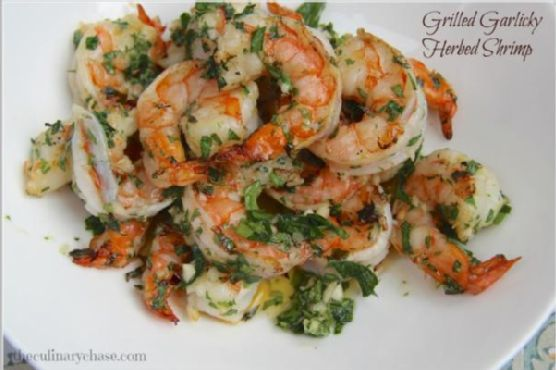 Grilled Garlicky-Herbed Shrimp