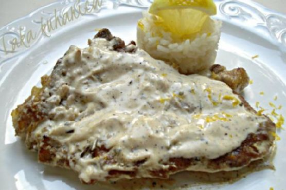 Lemon and pepper veal cutlets