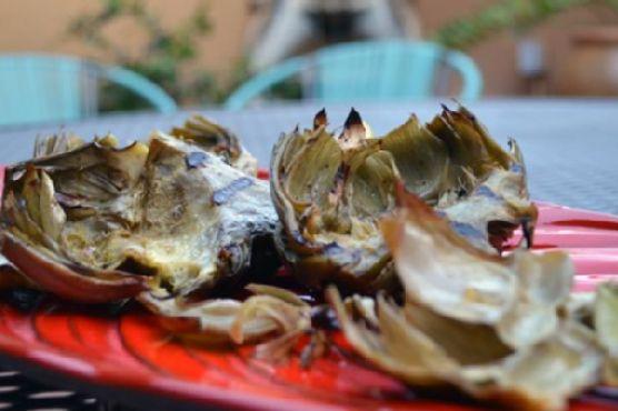 Grilled Lemon Garlic Artichokes