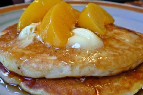 Peach & Brown Sugar Pancakes