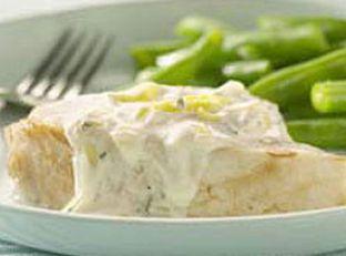 Swordfish with Leek Cream