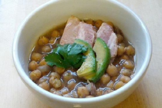 Slow Cooker: Pork and Garbanzo Beans