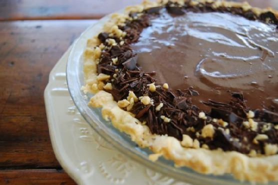 Vegan Chocolate Banana Pie