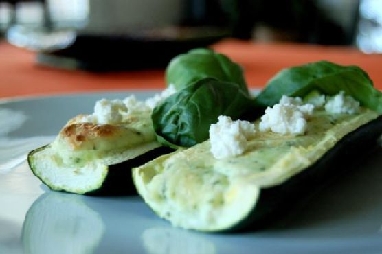 Zucchini Flutes Piped With Basil Ricotta Mousse