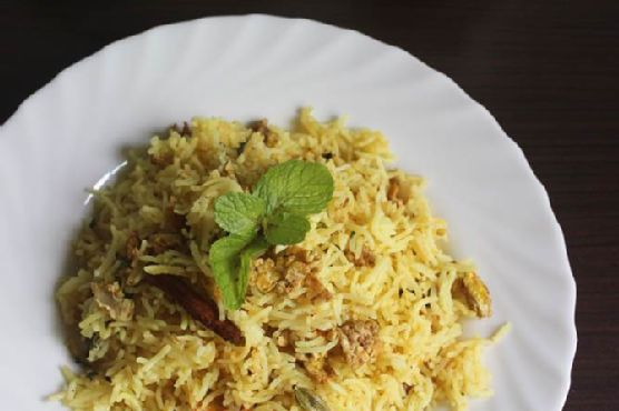 egg biryani , how to make easy scrambled egg biryani in 30 mins