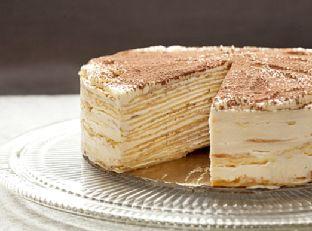Mille-Crepe Tiramisu Birthday Cake