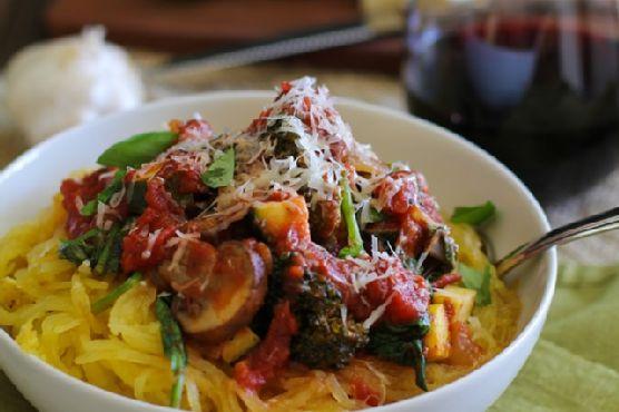 Vegetable Spaghetti Squash Marinara