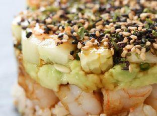 Spicy California Shrimp Stack Skinnytaste