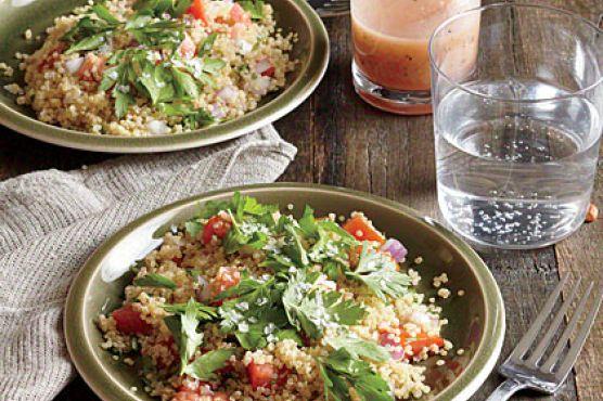Quinoa-Cilantro Tabbouleh with Flake Salt