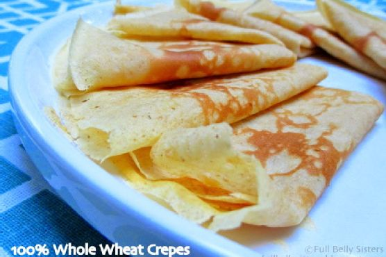 Simple Whole Wheat Crepes