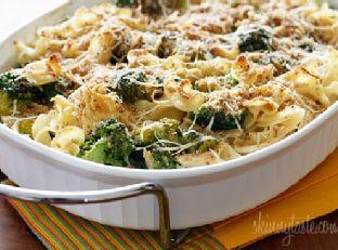 Chicken and Broccoli Noodle Casserole Skinnytaste