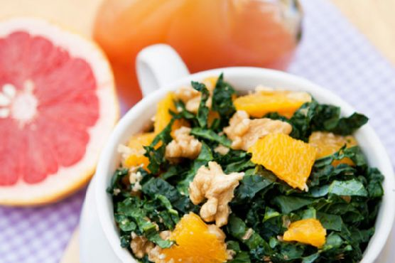 Clean Eating Spring Kale & Orange Salad