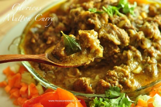 Mutton Curry with Coconut Milk – Stewed – Kerala Style
