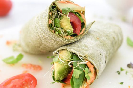 Hummus Veggie Wrap Plus 10 Heavenly Hummus to Make at Home