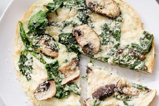 Spinach and Mushroom Egg White Frittata