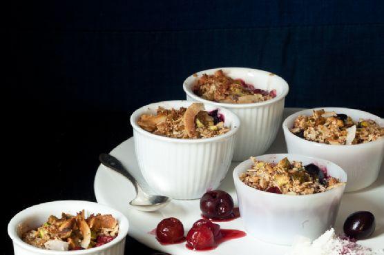 Cherry-Pistachio Crisps