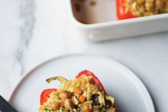 Samosa Stuffed Peppers