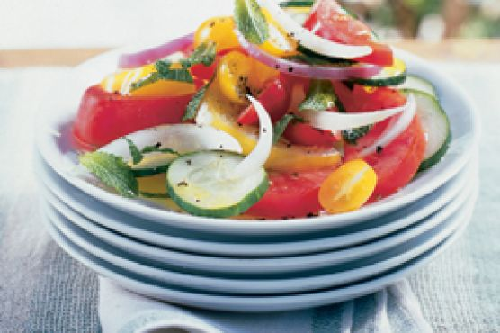 Minted Cucumber-Tomato-Onion Salad