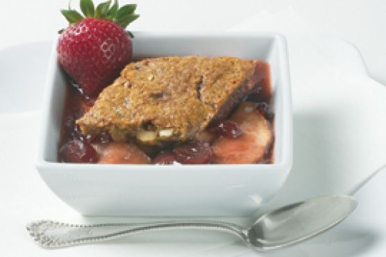 Gingered Apple-Berry Cobbler