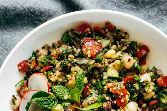 Lemony Herb-Loaded Chopped Greek Salad