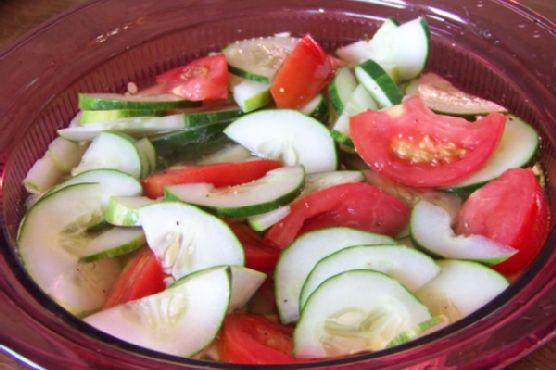 Simple Cucumber Tomato Salad