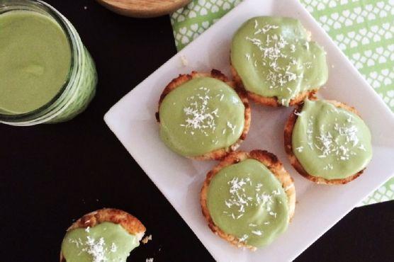 Low Carb Vegan Coconut Matcha Cupcakes