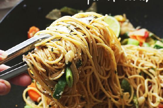 Garlic Peanut Noodles