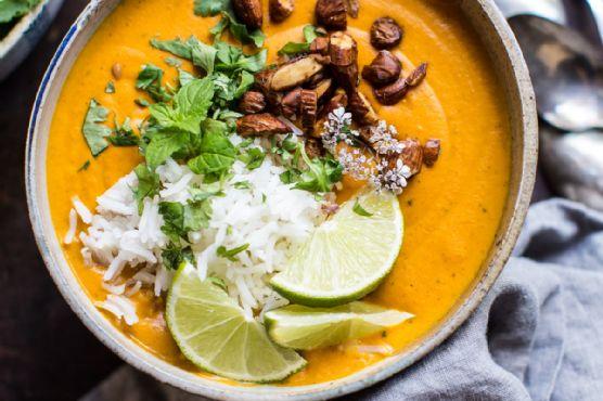 Creamy Thai Carrot Sweet Potato Soup