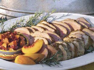 Roast Pork Loin With Peach Glaze Image