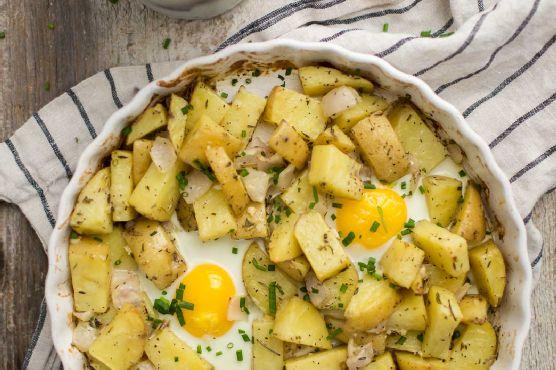 Rosemary Potato Egg Bake