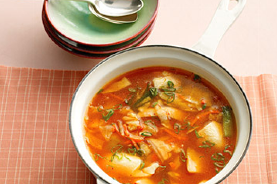 Kimchi Stew with Chicken and Tofu
