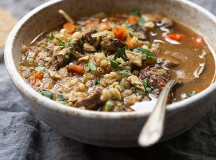 Comforting Beef Barley Soup (Instant Pot)