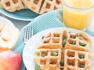 Smoked Gouda & Apple Grilled Cheese Waffles Image
