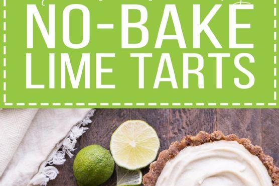 No-Bake Lime Tarts (Gluten Free, Paleo + Vegan)