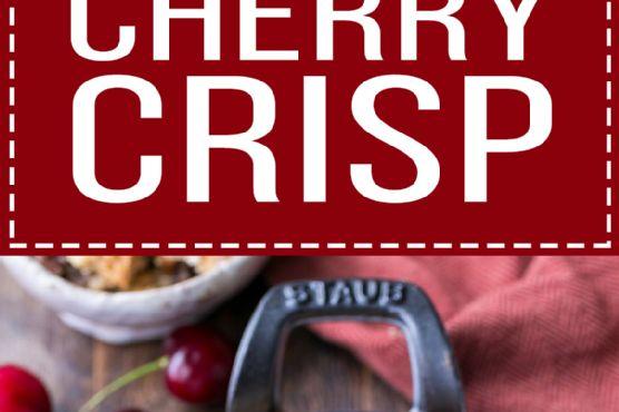 Cherry Crisp (Gluten Free, Paleo + Vegan)
