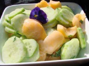Cantaloupe and Cucumber Salad