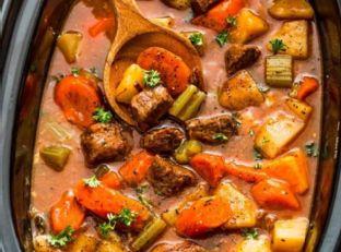 Slow Cooker Beef Stew (Homemade) + Video