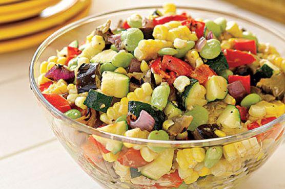 Grilled-Vegetable Succotash Salad