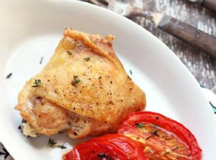 Easy Roasted Chicken and Tomatoes – Low Carb and Gluten Free Image