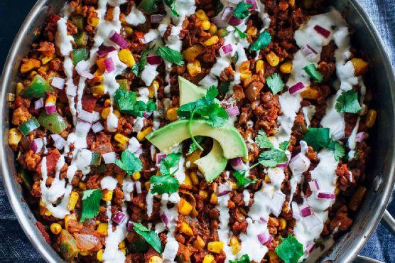 Easy Lentil Taco Skillet